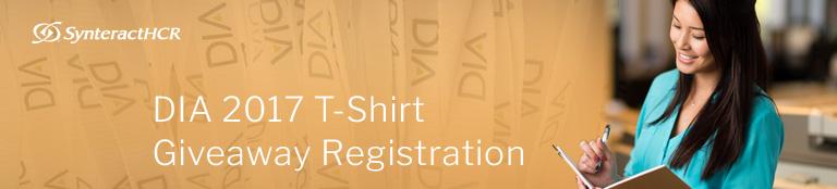 DIA 2017 T-shirt Giveaway Registration