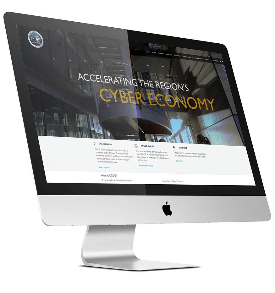 CCOE Website Device Mockup